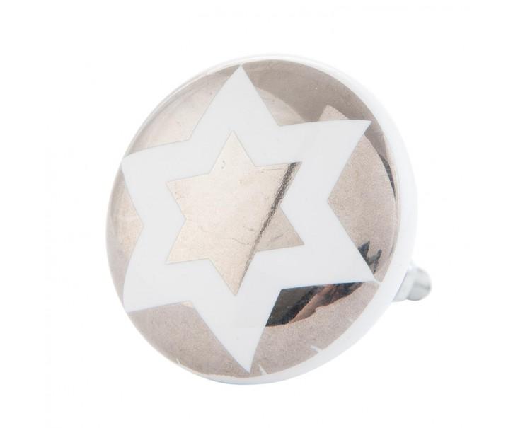 Keramická úchytka s hvězdičkou 4x2 cm