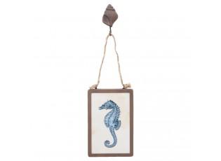 Kovový obrázek Mořský koník - 10*3*34 cm