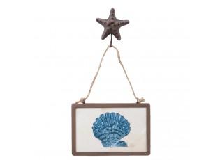 Obrázek modrá mušle - 15*3*30 cm