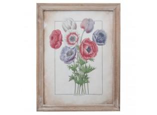 Obraz květiny v dřevěném rámu I - 36*2*46 cm