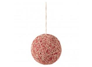 Textilní vánoční koule - Ø 12*12 cm