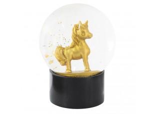 Sněžítko zlatý Jednorožec - Ø 12*15 cm