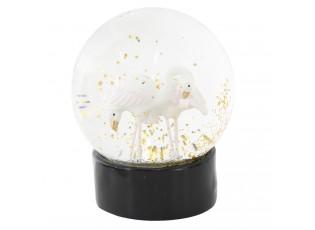 Sněžítko s plameňáky - Ø 10*13 cm