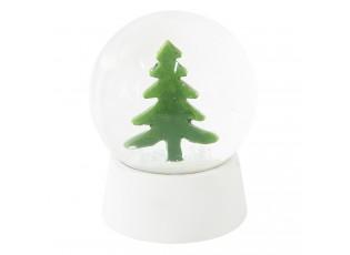 Sněžítko s vánočním stromkem - Ø 8*11 cm