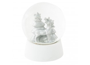 Sněžítko s jelenem - Ø 8*11 cm
