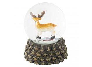 Malé sněžítko s jelenem – Ø 7*8 cm