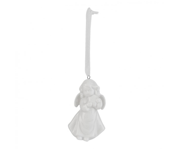 Závěsný keramický andílek - 4*3*7 cm
