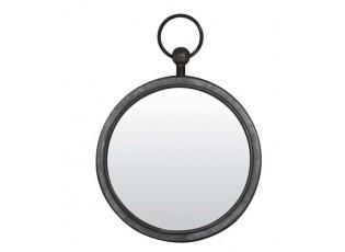 Kulaté kovové zrcadlo Pure zinc-  Ø36*42 cm