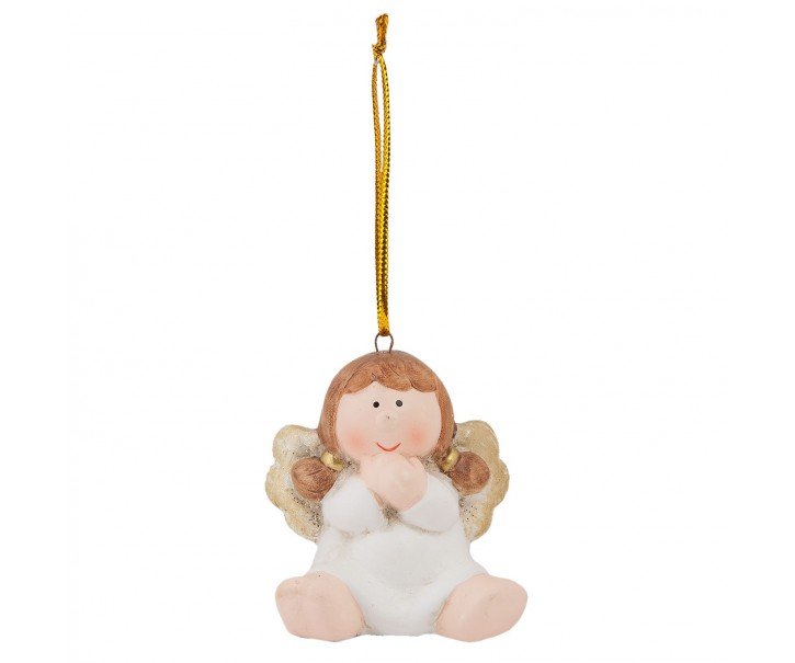 Vánoční porcelánová dekorace Andílek - 6*4*6 cm