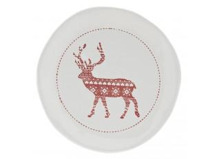 Dezertní talířek s jelenem - Ø 20*3 cm