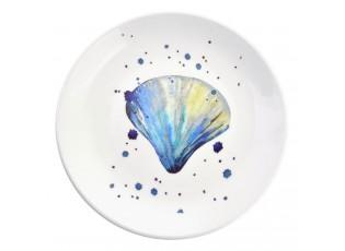 Keramický talíř s mušlí  Nautical Fish – Ø 20*2 cm