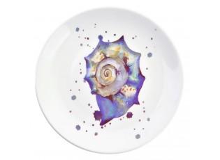 Keramický talíř s lasturou Exotic World – Ø 20*2 cm