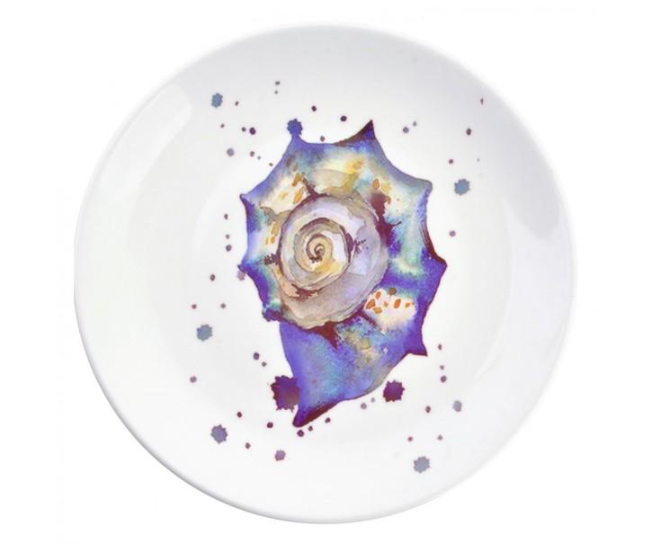 Keramický talíř s lasturou  Nautical Fish – Ø 20*2 cm