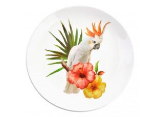 Keramický talíř s papouškem Kakadu Exotic World – Ø 20*2 cm