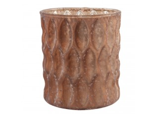 Bronzově hnědý svícen na čajovou svíčku - Ø 8*9 cm