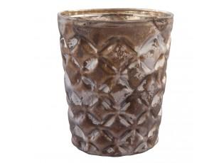 Skleněný svícen na čajovou svíčku - Ø 7*8 cm