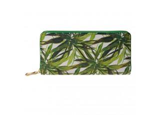 Peněženka zelené listy - 19*10 cm