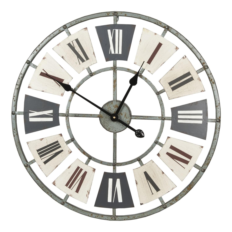 Kovové nástěnné hodiny s římskými číslicemi - Ø 60*5 cm