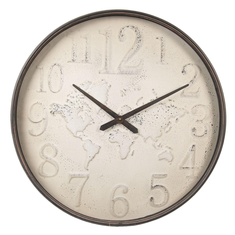 Kovové nástěnné hodiny se světadíly - Ø 71*6.5 cm