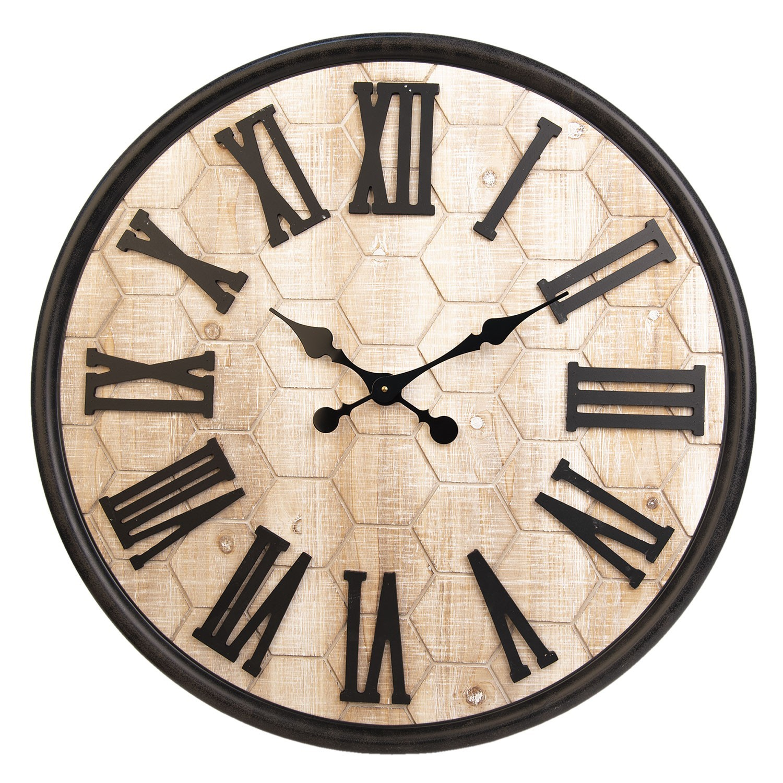 Velké nástěnné hodiny s římskými číslicemi - Ø 76*5 cm / 1*AA