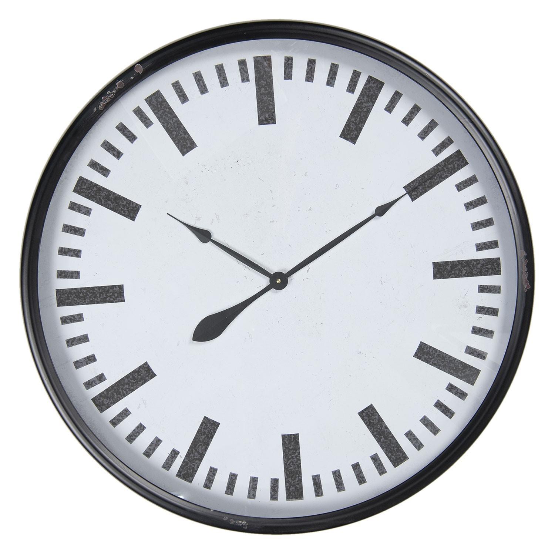 Levně Kovové retro hodiny - Ø 80*10 cm / 1*AA
