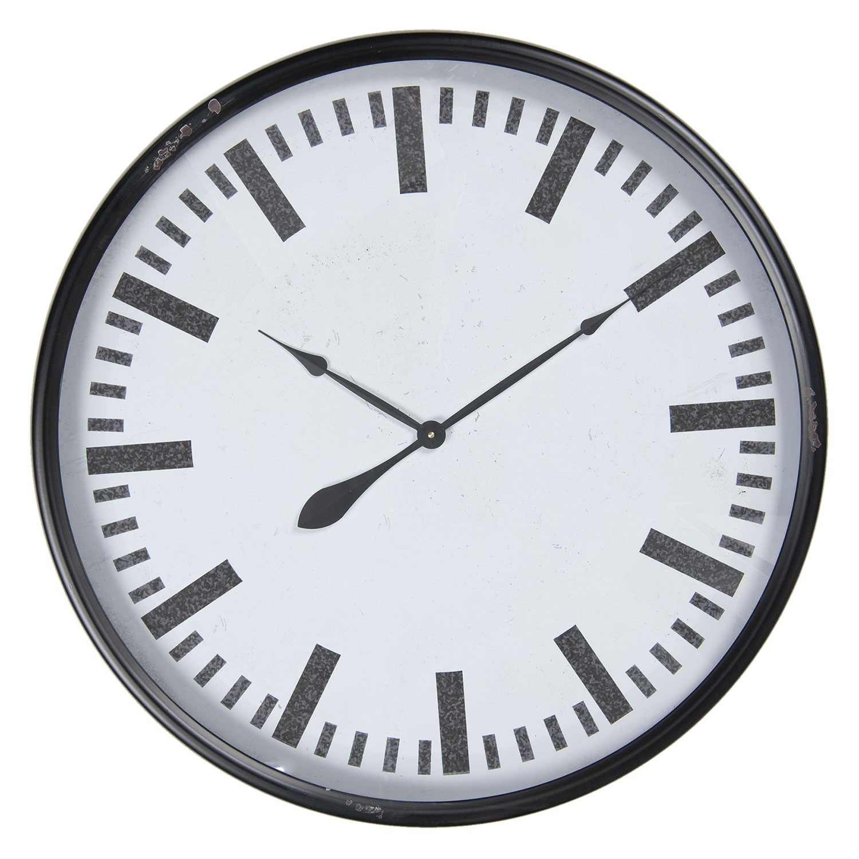 Clayre & Eef Kovové retro hodiny - Ø 80*10 cm / 1*AA