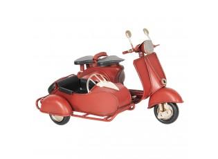 Retro kovový model červená motorka -  18*13*12 cm