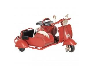 Retro kovový model červená motorka -  12*10*8 cm