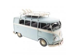 Retro kovový model VW modrý autobus - 32*13*17 cm