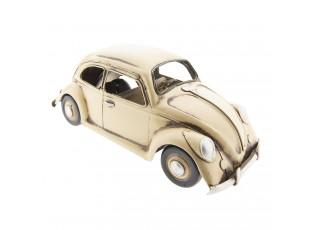 Retro kovový model VW krémový brouk -  29*11*11 cm