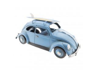 Retro kovový model VW modrý brouk -  28*11*13 cm