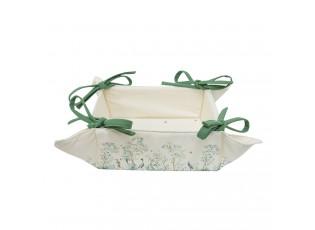 Textilní košíček na pečivo Birds in Paradise - 35*35*8 cm