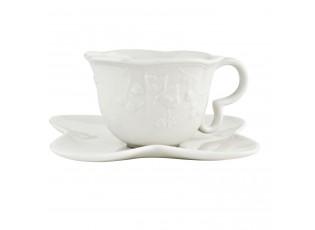 Porcelánový šálek s podšálkem Graceful Butterfly -  Ø 15*7 cm