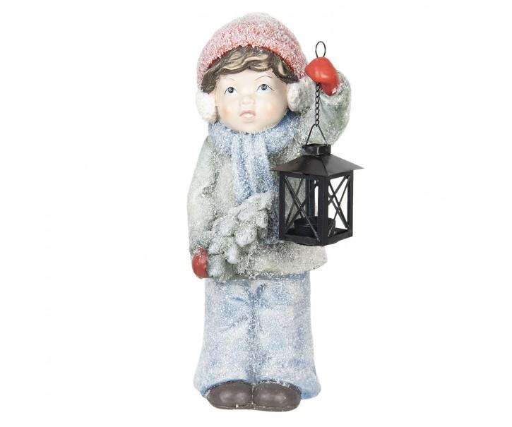 Dítě s lucernou - 19*19*42 cm