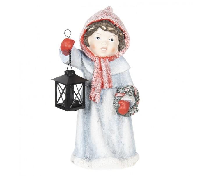 Dítě s lucernou a věnečkem - 21*18*41 cm