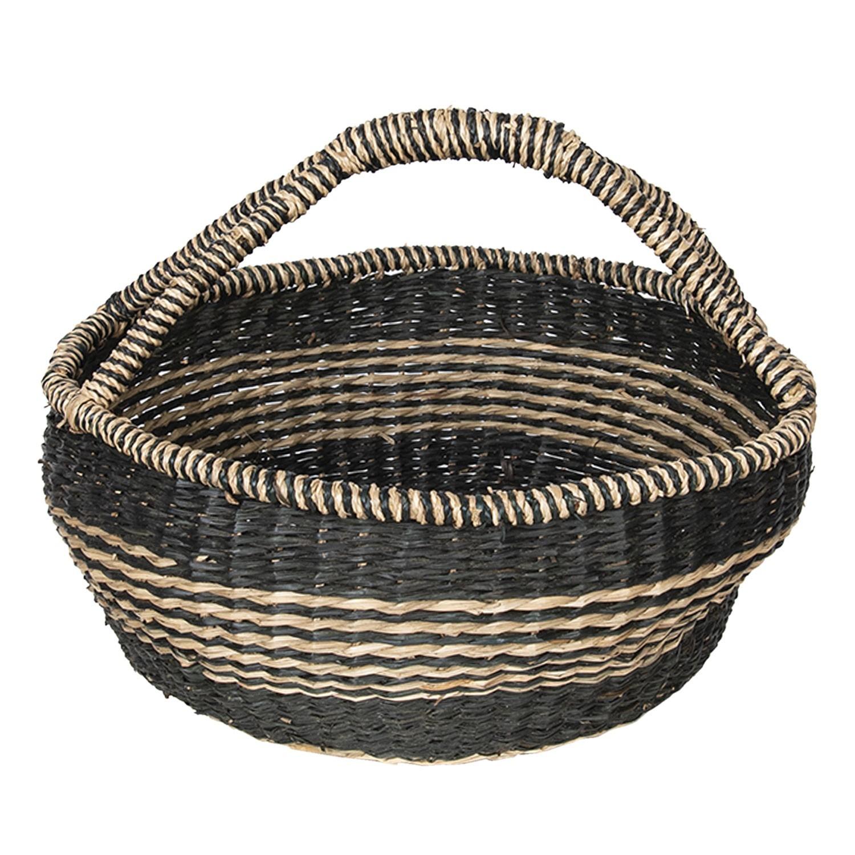 Košík z mořské trávy - Ø 38*20 cm