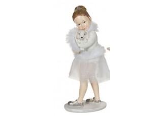 Stojící baletka s králíčkem - 9*5*12 cm