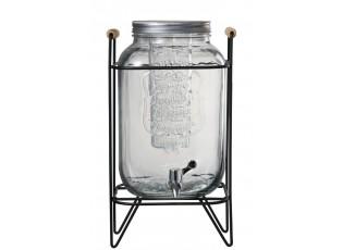 Nádoba na nápoje s kohoutkem v kovovém stojanu- 23*21*41cm