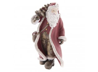 Dekorace Santa se stromkem -  10*10*19 cm