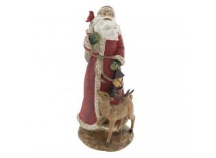 Dekorace Santa se zvířátky - 15*15*32 cm