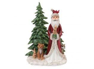 Dekorace Santa se zvířátky - 15*11*19 cm