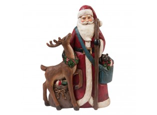 Dekorace Santa se zvířátky - 22*8*31 cm
