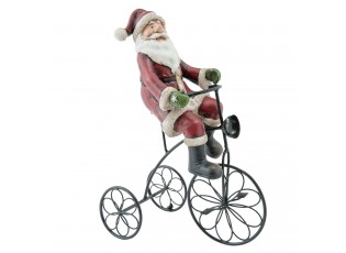 Dekorace Santa na tříkolce - 20*10*26 cm