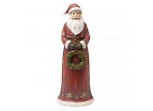 Dekorace Santa s věnečkem - 12*10*30 cm