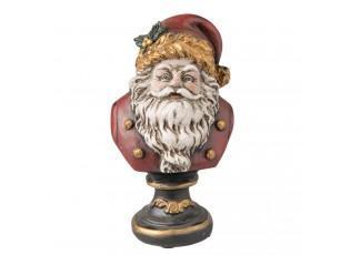 Dekorace bysta Santa - 9*8*15 cm