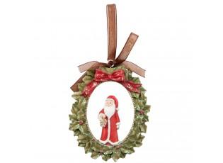 Vánoční ozdoba Santa -  7*1*8 cm