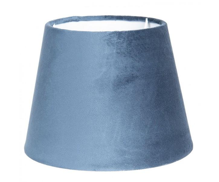 Modré sametové stínidlo Chic  - Ø 25*18 cm