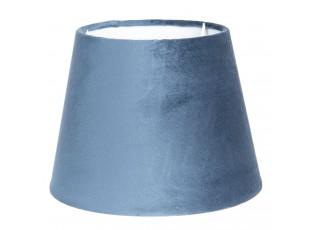 Modré sametové stínidlo Chic  - Ø 20*15 cm