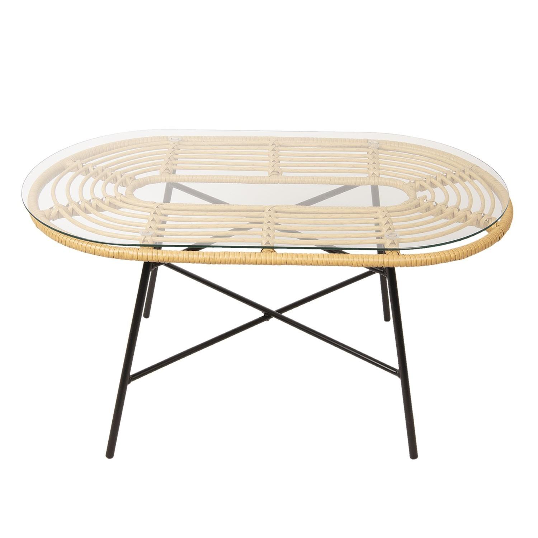 Oválný konferenční stolek Marc - 90*50*45 cm