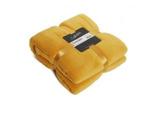 Žlutý plyšový pléd Sweden golden - 150*200 cm